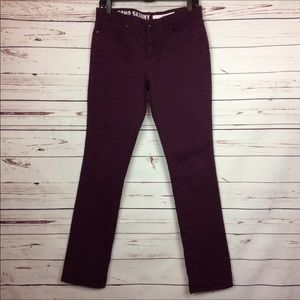 [DKNY] Soho Skinny Burgundy/Berry Colored Jeans